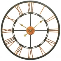 Metal Skeletal Wall Clock