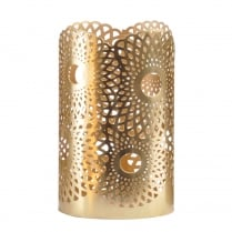 Ora Gold Pillar Candle Holder