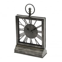 Square Black Mantel Clock