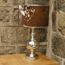 Cowskin Hide Table Lamp
