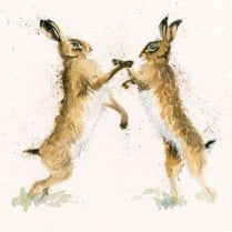 Mates Hare Framed Limited Edition Print by Kay Johns