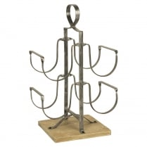 Metal Frame Wine Rack
