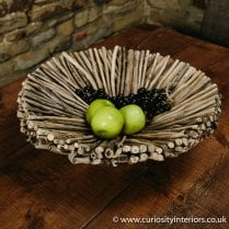 Natural Round Driftwood Bowl