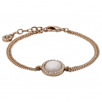 Rose Gold Plated Precious Stone Bracelet