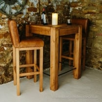 Rushcliffe Leather Bar Stool