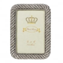 Silver Rope Photo Frame
