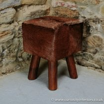 Square Dinky Hide Stool