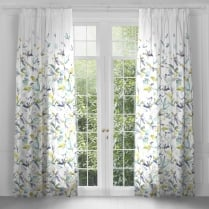 Artscene Jarvis Lemon Pencil Pleat Curtain Panels
