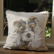 Baxter Linen Print Cushion