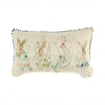 Bunnies Linen Print Cushion