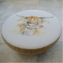 Cato Highland Cow Footstool
