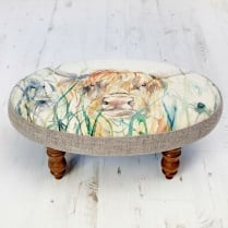 Ceris Bramble View Footstool