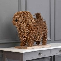 Chester The Dog Wooden Sculpture