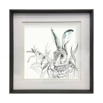 Ebony Hare Framed Artwork