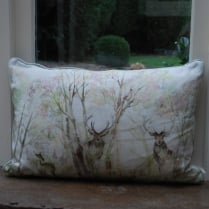 Enchanted Forest Large Linen Print Cushion