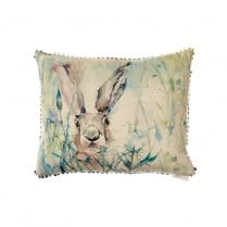 Jack Rabbit Linen Print Cushion
