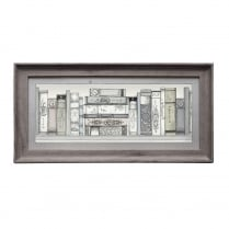 Library Books Rectangular Framed Artwork