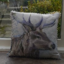 Mini Buck Linen Print Cushion