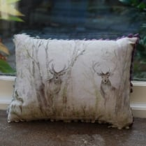 Mini Enchanted Forest Linen Print Cushion
