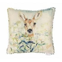 Mini Fawn Linen Print Cushion
