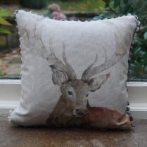 Mini Gregor Linen Print Cushion