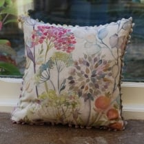 Mini Hedgerow Linen Print Cushion