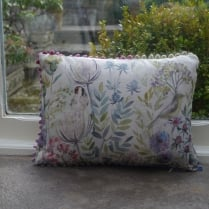 Mini Morning Chorus Linen Print Cushion