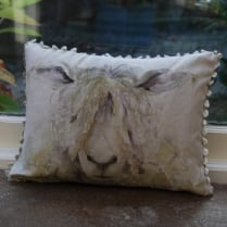 Mini Mr Wooly Linen Print Cushion