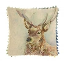 Mini Wallace Linen Print Cushion