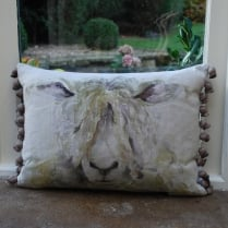 Mr Wooly Linen Print Cushion