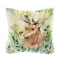 Oak View Linen Print Cushion