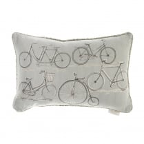 Penny Farthing Linen Print Cushion