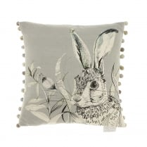Pounce Silver Linen Print Cushion