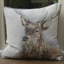 Wallace Linen Print Cushion