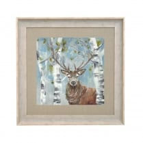 Woodland Stag Square Framed Artwork