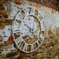 White Large Iron Wall Clock