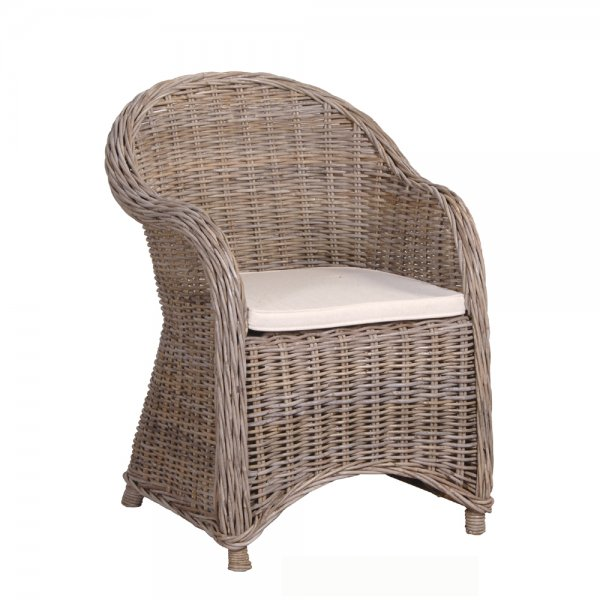 Rattan Armchair with Cushion | Luxury Dining Furniture ...