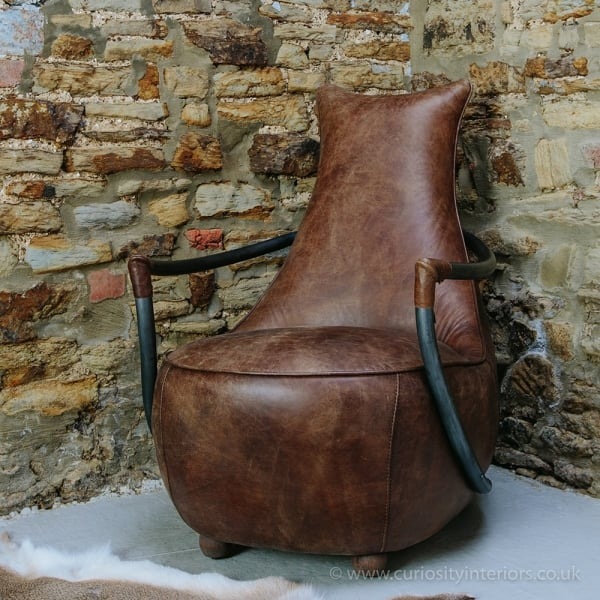 Wondrous Retro Murphy Leather Chair Dailytribune Chair Design For Home Dailytribuneorg