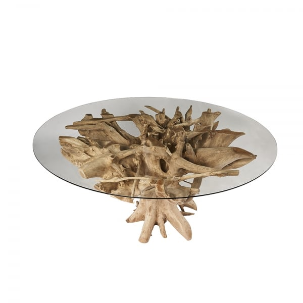 Root And Glass Coffee Table: Root Tree Truck Coffee Table & Lamp Tables