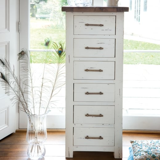 Ruan Chalk Narrow Chest Of Drawers