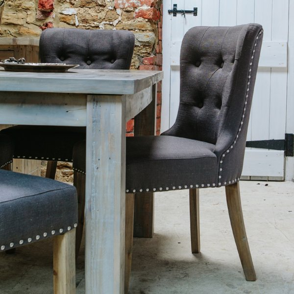 Grey Washed Wood Dining Table Chairs From Curiosity Interiors