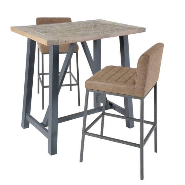 Faux Suede Amp Metal Industrial Bar Stool From Curiosity