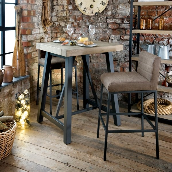 Industrial Bar Table Reclaimed Breakfast Bar Curiosity