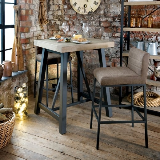 Ruan Industrial Bar Table and Stools Package