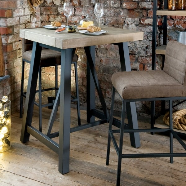 Industrial Bar Table Reclaimed Bar Table Curiosity