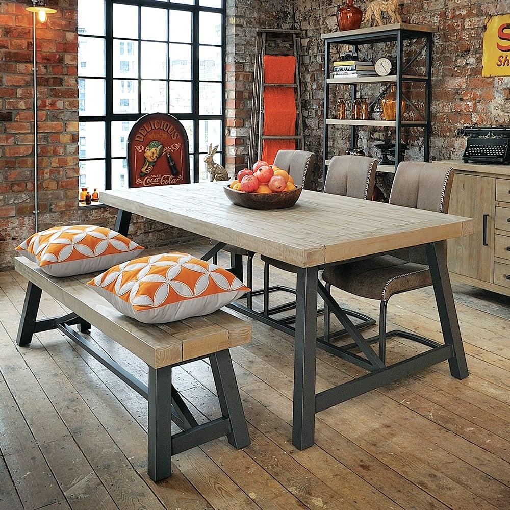 Industrial Dining Table Metal Leg, Industrial Dining Room Table
