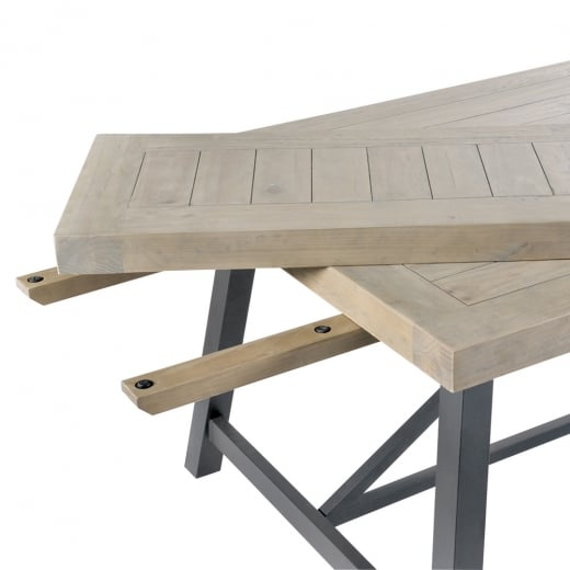 Ruan Industrial Extension Leaf Dining Table Curiosity Interiors