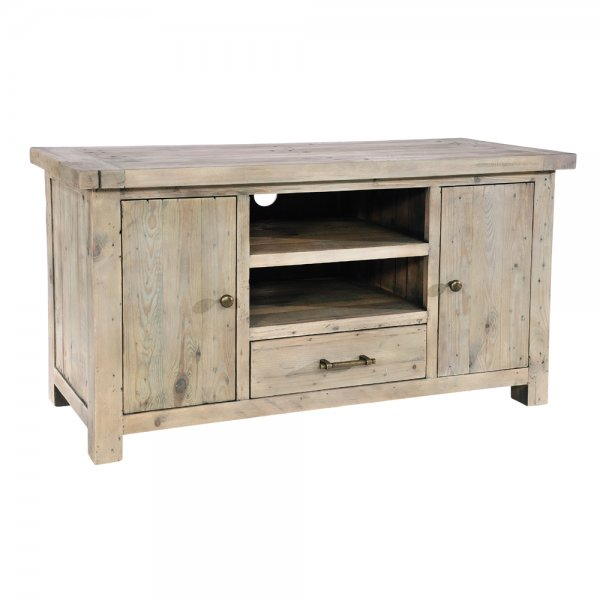 Grey Washed Rustic Recycled Wood Tv, Grey Wash Furniture
