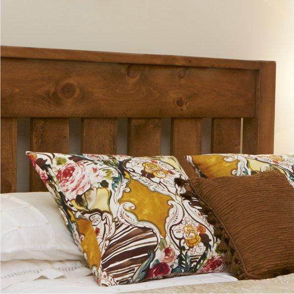 Buy Rustic Chunky Plank Bed Bespoke Wood Bedroom Furniture UK Made