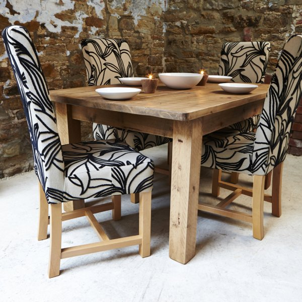 Harlequin Fabric Dining Set Four, Fabric Dining Room Chairs